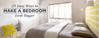 25 Ways to Make a Small Bedroom Look Bigger | Shutterfly