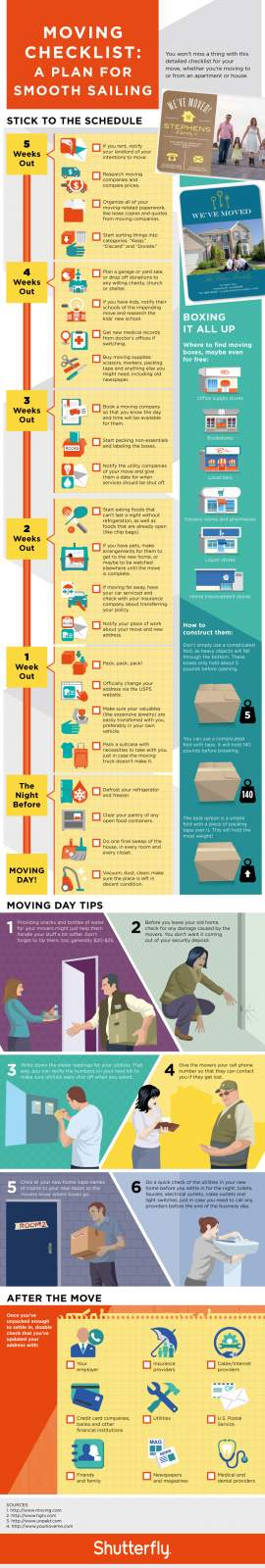 printable moving checklist and