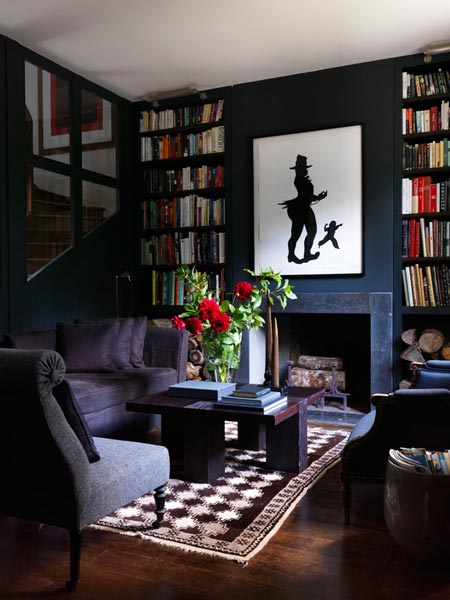 red white and black living room ideas furniture small spaces 75 delightful photos shutterfly this cozy includes a fireplace tall bookshelves artwork featuring two silhouettes roses also add lovely contrast