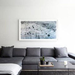 Pictures Of Modern White Living Rooms Sideboards Room Uk 75 Delightful Black Photos Shutterfly This Shows How To Make A Big Impact With Few Minimalistic Decorations The Monochrome Painting Pairs Perfectly Couch And