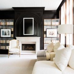 Living Room Pictures Black And White Design A 75 Delightful Photos Shutterfly If Your Favorite Thing Is Curling Up With Good Book You Ll Love This That Features Cozy Fireplace Tall Bookshelves