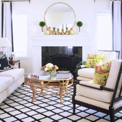 Design Ideas For Black And White Living Room Best Paint Colors With Wood Trim 75 Delightful Photos Shutterfly Check Out The Quirky Gold Pineapples On This S Mantel Yellow Throw Pillows Also Add A Nice Colorful Touch