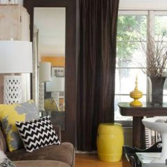 Yellow And Brown Living Room Decorating Ideas Purple Themed 75 Enchanting Rooms Shutterfly If You Re Worried That Your Is Too Dark Try Using As An Accent Color Just A Few Pieces Of Decor Can Add Tons Brightness