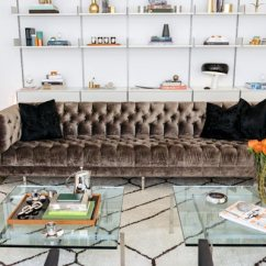 Living Room Color Schemes Black Leather Couch 2 White Rooms 75 Enchanting Brown Shutterfly This Classic Velvet Works Wonderfully With The More Modern Bookshelves And Glass Coffee Table
