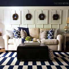 Decorating Ideas For Living Room With Brown Couch Colors Blue And 75 Enchanting Rooms Shutterfly If You Love The Nautical Look Take Inspiration From This That Includes A Striped Navy White Carpet Hanging Illustrations