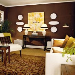 Wall Colors For Living Room With Brown Furniture Pictures Of Beautiful Rooms Leather Couches 75 Enchanting Shutterfly If You Re Going A Dark Color Be Sure To Lighten Up The Some Bright Decorations Like This Does By Hanging White Plates