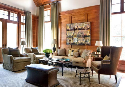 living room ideas with brown couch modern colors 75 enchanting rooms shutterfly this features stylish wooden walls that go well the dark and woven beige rug