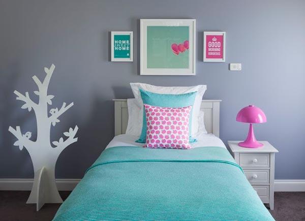 Teenage Girl Room White And Gold Polka Dot Wallpaper 75 Delightful Girls Bedroom Ideas Shutterfly