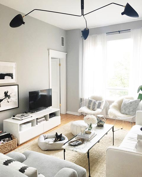 living room ideas with gray walls decorating modern 75 charming photos shutterfly the stylish angles of furniture and lighting pieces are best cast against backdrop trimmed white