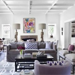 Purple Living Room Furniture Sofas Ashley 75 Lively Photos 2019 Shutterfly This Uses A Lilac Sofa And Chair To Stunning Effect Made All The More Majestic When Matched With Pure White Walls