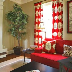 Red Curtains For Living Room Pendant Light 75 Exciting Photos Shutterfly These Asian Themed Add Style And Character To The Same Pattern Is Also Found On Pillows