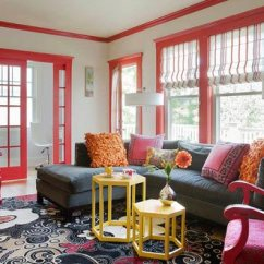 Red And White Living Room Motion Furniture 75 Exciting Photos Shutterfly Moulding Draws The Eye Upward Bringing A Sense Of Space Fun To