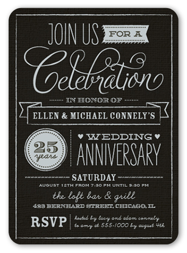25th Anniversary Party Ideas And Themes Shutterfly