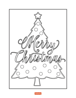 coloring pages christmas tree # 20