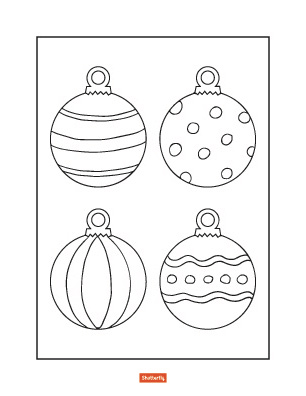 christmas ornament coloring page # 0