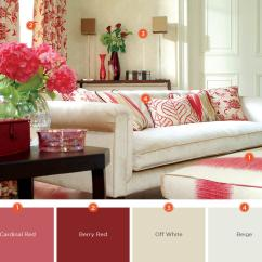 Design My Living Room Color Scheme Blue Accent Pieces 20 Inviting Schemes Ideas And Inspiration For Let Your Decor Take To The Next Level This Red Beige White Is Achieved By Using A Favorite Fabric Make Curtains