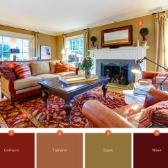 Living Room Colors Plaid Curtains For 20 Inviting Color Schemes Ideas And Inspiration If You Want To Create A Warm Comfortable Your Scheme Will Make Big Difference Blend Deep Tones Of Red Brown