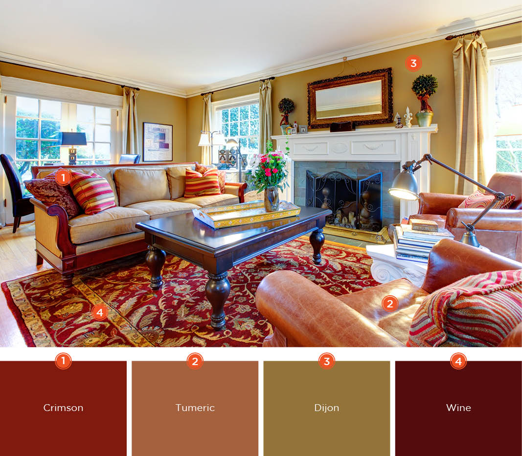 color for living rooms paint ideas small room 20 inviting schemes and inspiration if you want to create a warm comfortable your scheme will make big difference blend deep tones of red brown