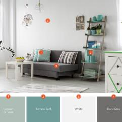 Living Room Wall Colors With Grey Furniture Blue Paint Ideas For 20 Inviting Color Schemes And Inspiration Incorporate Your Favorite Throughout The Decor This Simple Was Updated Shades Of Teal Small Touches Lime Green