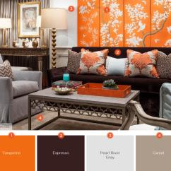 Orange Living Room Designs How To Paint A 20 Inviting Color Schemes Ideas And Inspiration For Citrus Renewal
