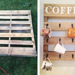 Kitchen Wall Hangings Ikea Drawers 25 Best Wood Decor Ideas Shutterfly Show Guests Who The Mom In World Is By Creating A Diy Coffee Cup Holder For Find An Old Pallet And Refurbish It Like This