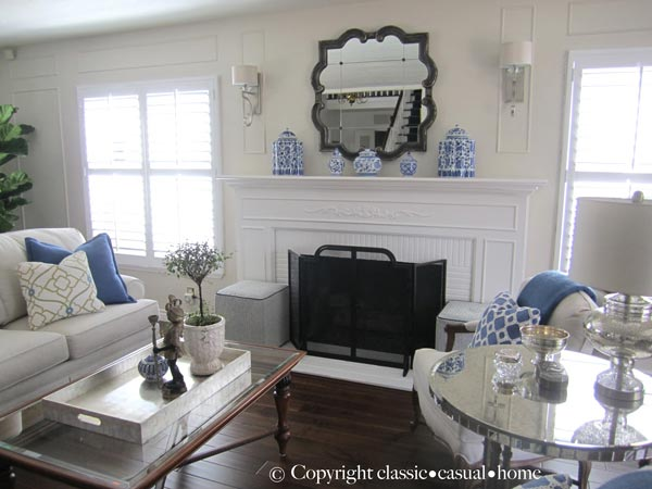 formal living room sofa country furniture sets 50 ideas for 2019 shutterfly everything in this matches perfectly from the delft vases on mantel to blue and white decorative pillows