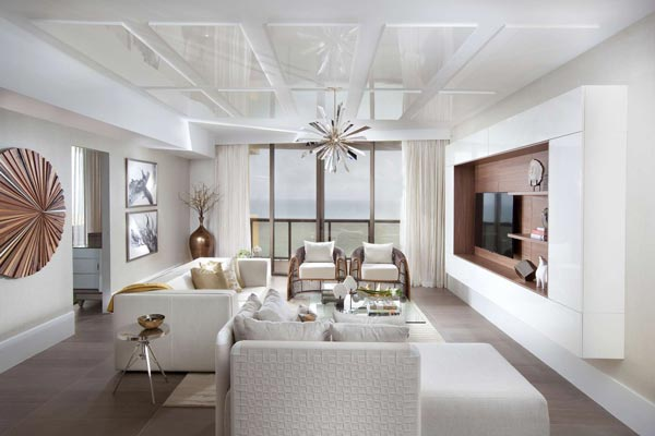 ceiling designs for living room 2018 formal curtain ideas 50 2019 shutterfly mirrored panels and a shining silver chandelier add modern twists to