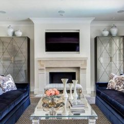Formal Living Room Ideas With Fireplace White Side Tables For 50 2019 Shutterfly An All Glass Coffee Table Is Elegant Addition To A And It Looks Lovely This S Velvet Couches