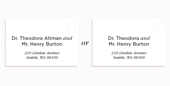 If Both Parties Are Doctors With Diffe Last Names Their Can Be Written On The Inner And Outer Envelopes