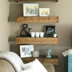 Redecorate Living Room Coffee Table Ideas For 50 Rustic 2019 Shutterfly Floating Wood Shelves Are Easy To Make And They Re Fun Decorate Fill The With Family Photos Vintage Decor Bright Plants