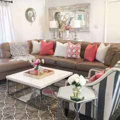 Living Rooms Ideas 2017 Modern Room Sets Cheap 50 Simple For 2019 Shutterfly You Can Easily Add Brightness To A Brown Couch By Decorating With Colorful Pillows Like These Pink And White