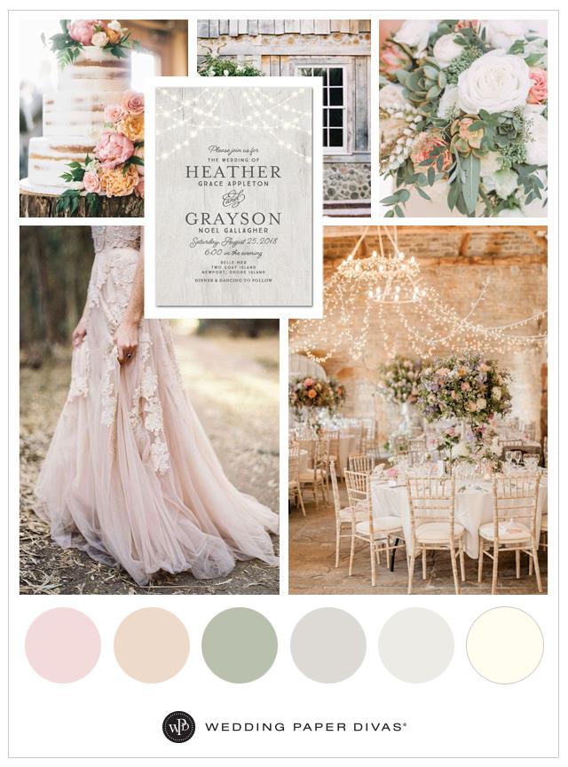 blush wedding color palette | deweddingjpg.com