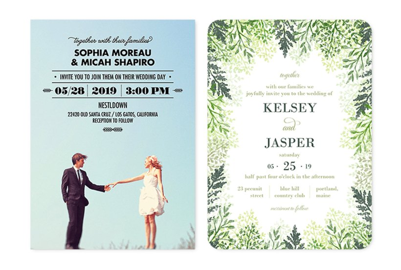 Casual Wedding Invitation Wording Example