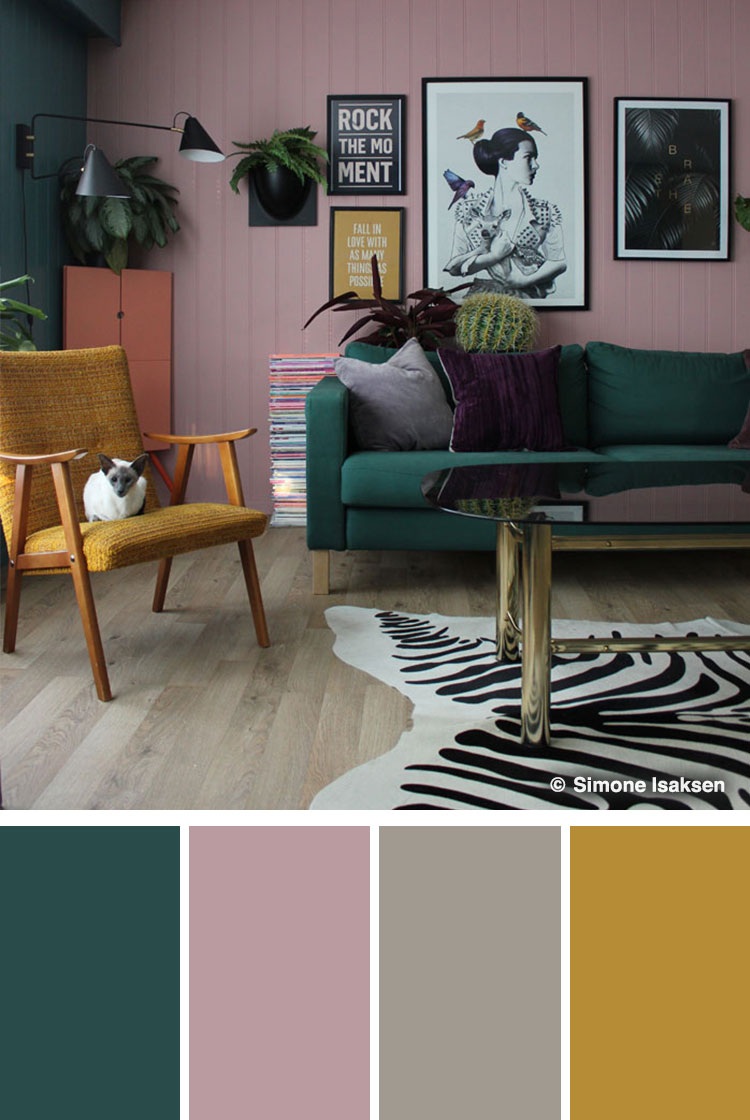 colour schemes for living rooms green paint small 10 stylish color combinations and photos shutterfly light pink