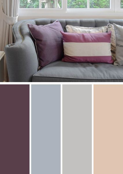 purple and gray bedroom color scheme 10 Unique Purple Color Combinations and Photos | Ideas and
