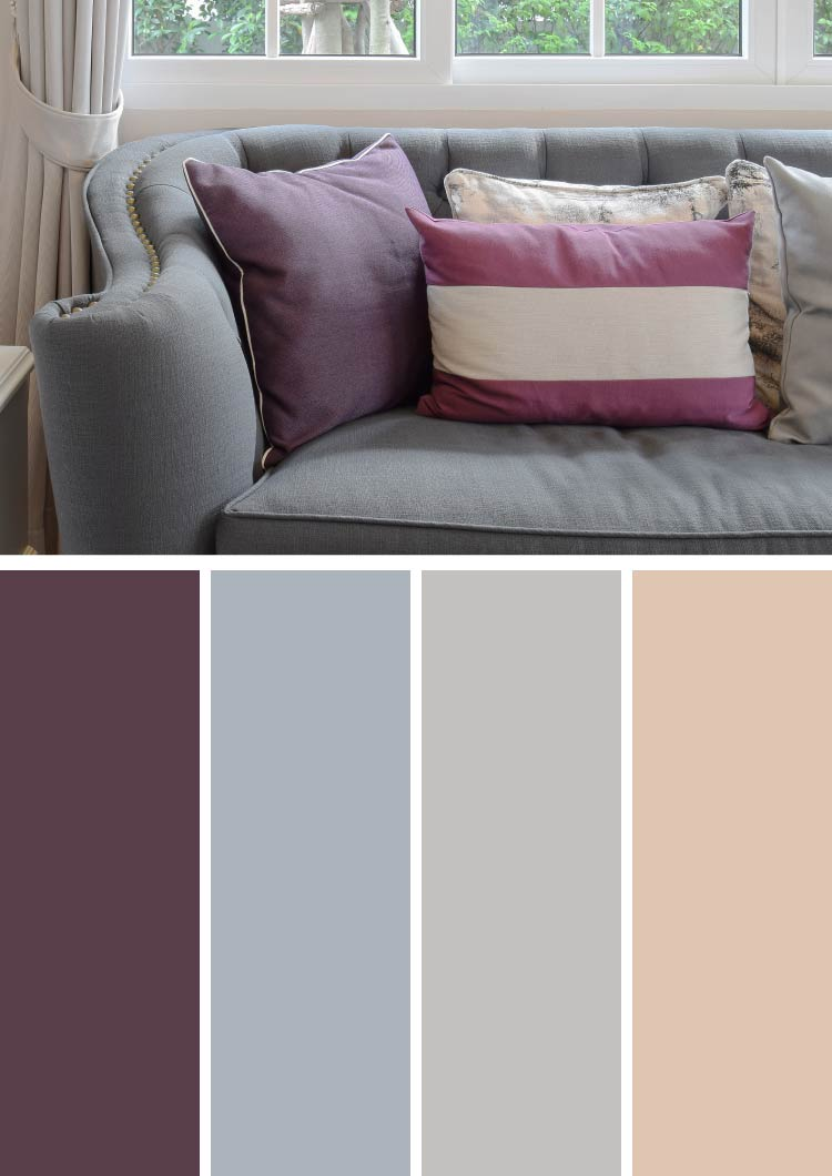 purple color for living room rooms with light grey walls 10 unique combinations and photos ideas dark gray