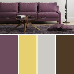 Purple Color For Living Room Ideas Modern Design 10 Unique Combinations And Photos Light Yellow