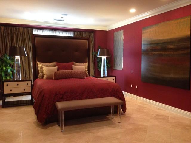 75 unique red bedroom