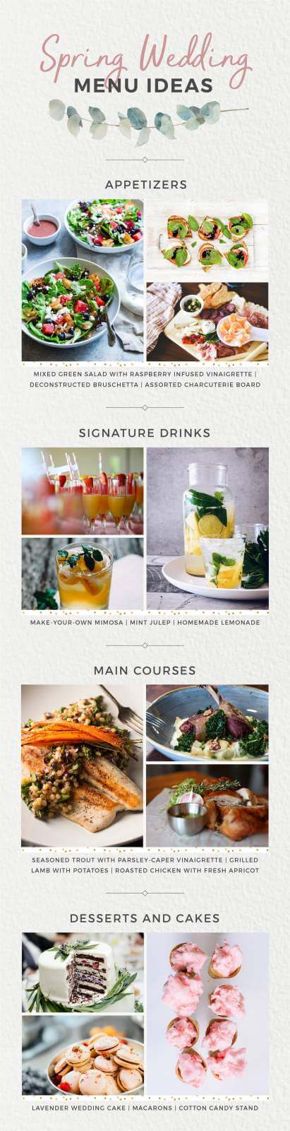 Spring Wedding Menu Ideas