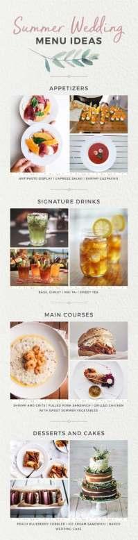 Wedding Menu Ideas By Season | Shutterfly