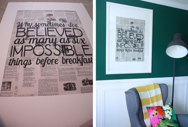 creative gift ideas newspaper art width=