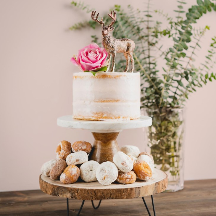 If you're looking to add a woodland twist to a traditional cake, it's quite  simple! Include rustic browns mixed with soft pinks and greens for decor,  ...