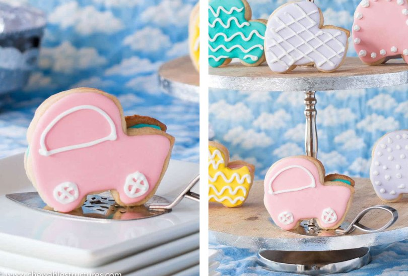baby carriage cookies