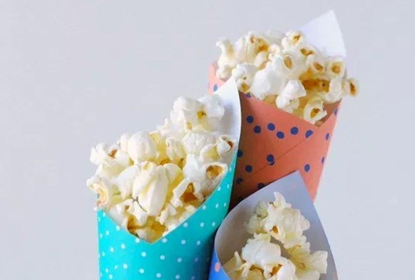 cones of popcorn