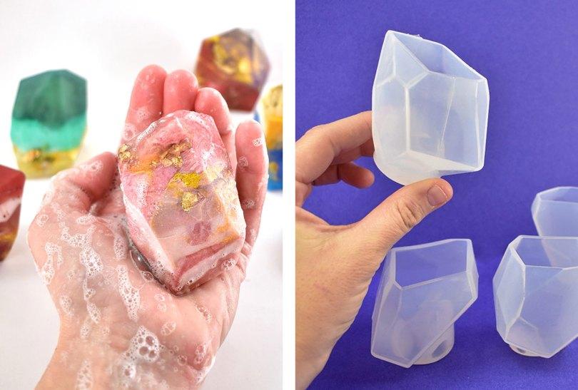 easy diy crystal soaps