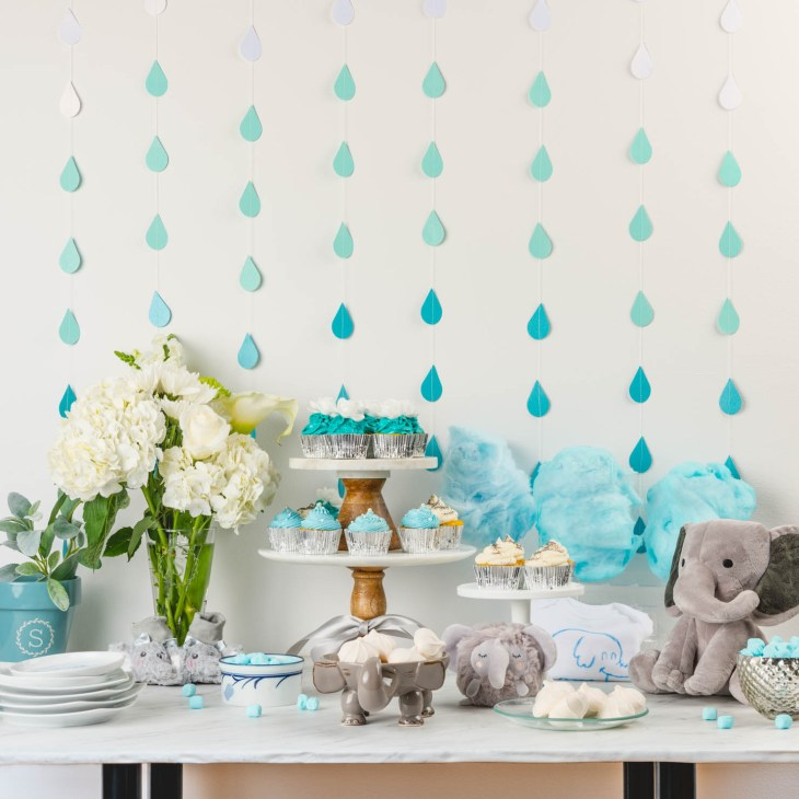 There are a lot of elephant baby shower ideas you can choose from. Blue and  pink hues in combination with gray and silver tones are perfect for  creating a ...