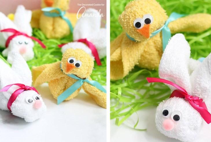 baby shower gift washcloth animal