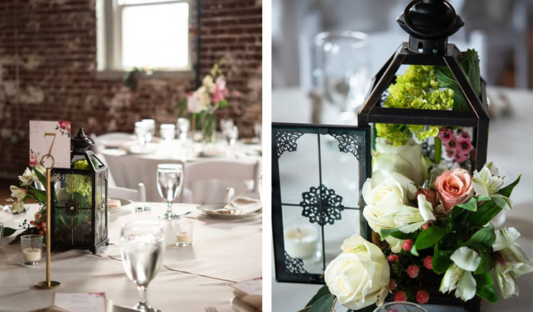 Image result for metal lanterns with floral