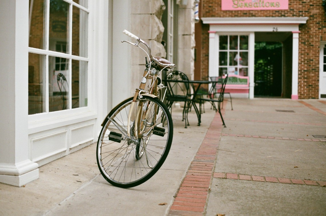 Bike Parked outside a store on the Square in Downtown Columbia, Tennessee