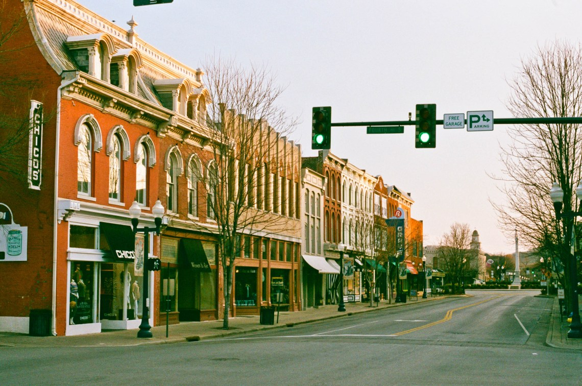 Early Morning on Main Street in Franklin, Tennessee